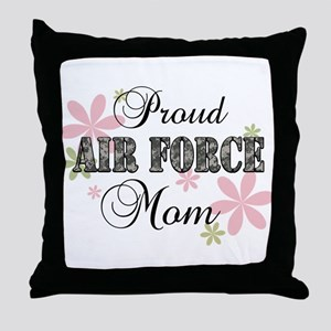 Air Force Mom [fl camo] Throw Pillow
